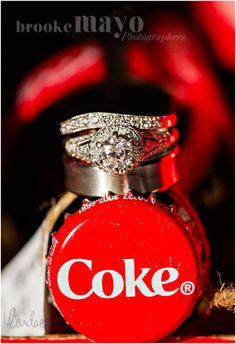 Wedding rings, rings, wedding detail, coke, Coca-Cola, Atlanta, Destination Wedding, Outer Banks Wedding, Married on a Sandbar, Candace Owens, Brooke Mayo Photographers, www.brookemayo.com