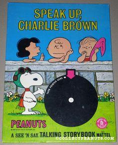 mattel charlie brown storybook | Speak Up, Charlie Brown
