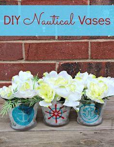 {DIY Nautical Vases!}