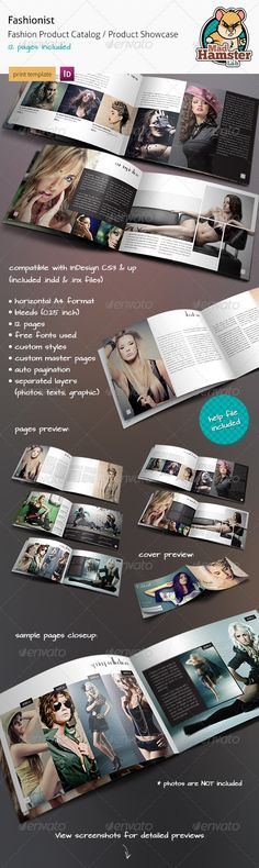 Buy Fashionist - Fashion Product Catalog / Showcase by MadHamsterLab on GraphicRiver. Fashionist is a horizontal fashion product catalog / product showcase / photography portfolio brochure. Booklet Layout, Catalogue Layout, Catalog Printing, Fashion Portfolio Layout, Printed Portfolio, Leaflet Design, Fashion Background, Magazine Layout Design, Presentation Layout