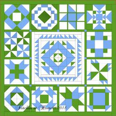 Stitchin At Home: Medallion Quilt Finishing it up