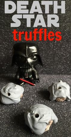 Death Star Truffles:  Made with Oreos and Cream Cheese.  Yum!!!  Such a fun Star Wars snack!