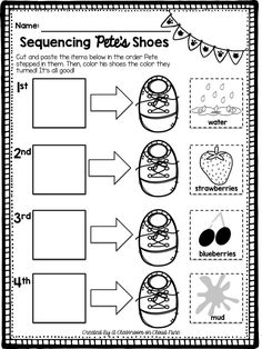 Pete the Cat NO PREP *freebie* {I Love My White Shoes Companion Pack} Read Aloud Story Sequencing FREE easy and ZERO PREP