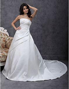 CALYPSO - Vestido de Novia de Satén – USD $ 199.99
