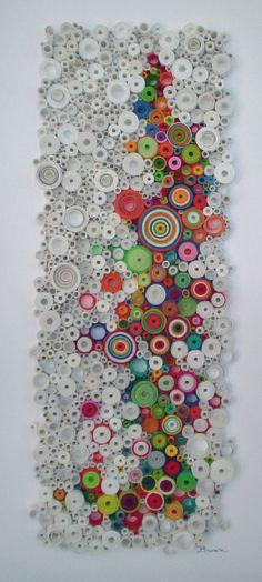 Moderne Wandkunst Ringmauer Original 3-dimensionale Papier