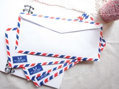 Set of 20 classic airmail envelopes / par avion by Happinessgarden, $3.00 | I have a little project in mind for these !