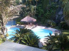 Vista de la piscina infantil desde el segundo piso.