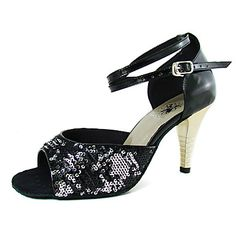 Leatherette/ Sparkling Glitter Upper Dance Shoes Ballroom Latin Shoes for Women More Colors – USD $ 69.99