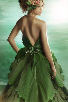 green leaf gowns - Google Search