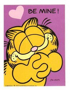 Garfield Valentine Sticker Vintage 80's style 1