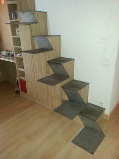Escalier métallique pas japonais - Delineo SA