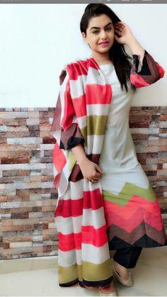 Salma'z collection... Indian Fashion Salwar, Indian Fashion Dresses, Indian Outfits, New Kurti Designs, Kurta Designs Women, Churidar Designs, Western Dresses For Women, Embroidery Suits Punjabi, Indian Designer Suits