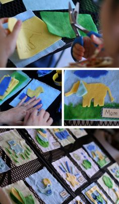 I'm not super crafty myself, but I REALLY admire those who are.  This is the BEST idea for a baby shower!!  From A Winding Road.
