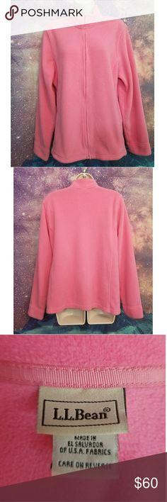 L.L.Bean Pink Pullover Pink Fleece L.L.Bean Jacket Excellent Condition Size Large L.L. Bean Jackets & Coats