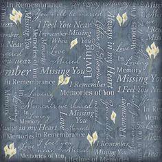 Karen Foster Design - In Memory 12 x 12 Paper