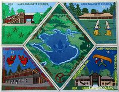 One of two #Yawgoog Centennial puzzle patch sets.  Shown is the limited numbered edition with silver borders.  Image by David R. Brierley.