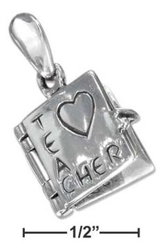Beautiful Sterling silver 925 sterling Sterling Silver Reflections #1 Teacher on Apple Bead