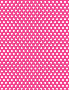 INSTANT DOWNLOAD - Minnie Mouse Hot Pink Polka Dot Background Digital Paper Birthday Party Supplies and Decorations