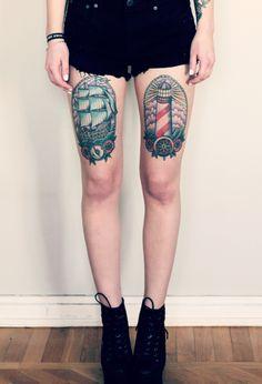 Katrin Berndt's tattoo American Traditional Sketch