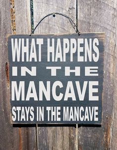 mancave decor mancave What Happens in the by FarmhouseChicSigns