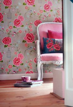 I would love to wall paper a room even just a focal wall. I love the look!!