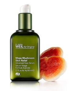 Face Serum || Dr. Andrew Weil for Origins Mega Mushroom- Advanced Skin Relief Serum (sensitive skin & redness for dry,normal,oily skin)