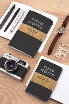"Black is back! The Field Notes Pitch Black Edition is now available with ruled pages and larger 7.5"" x 4.75"" size options."
