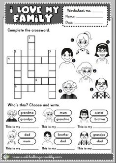 English Teaching Worksheets Family | my colours ... - photo#36