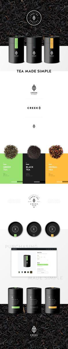 Creek tea co branding design by diamond
