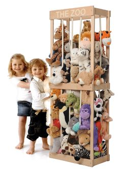 The Zoo for soft toys - not sure how our house filled with soft toys in the first place but we could really use something like this. anim storag, animals, the zoo, stuf anim, kid rooms, stuffed animal storage, kids, storage ideas, toy storage