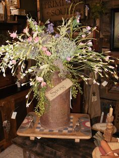 Primitive Spring Decor | Primitive Spring Thyme