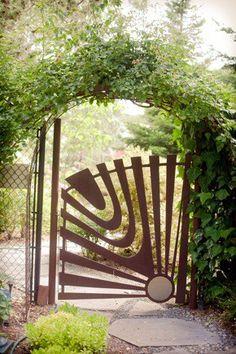 Custom gates T. Garden Gates And Fencing, Garden Doors, Metal Gates, Iron Gates, Door Gate, Fence Gate, Pergola, Custom Gates, Entrance Gates