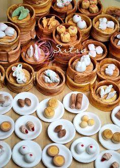 Miniature Handmade Sugar Figurines -Yum Cha