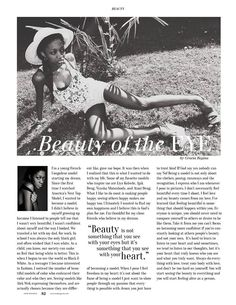 Article in livid Magazine Issue N*8 about how do I define beauty