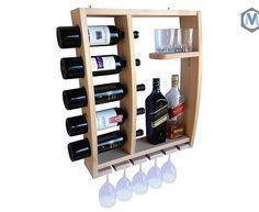 Passo a Passo grátis para a montagem do projeto de uma estilosa Adega de Parede de Madeira. Mude sua sala da água para o vinho.