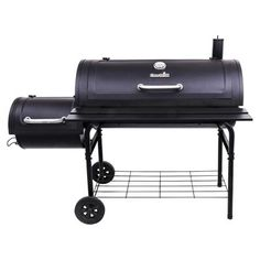 Char-Broil American Gourmet Offset Charcoal Smoker and Grill Size: Offset Smoker Deluxe Best Offset Smoker, Char Broil Smoker, Oklahoma Joe Smoker, Charcoal Smoker, Best Charcoal, Wood Pellets, Backyard Lighting, Outdoor Cooking, Cool Things To Buy
