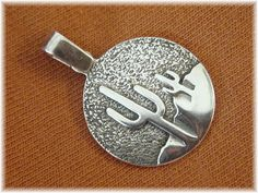 Saguaro Desert Cactus  Sterling Silver Pendant  by FindMeTreasures, $79.00