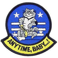 anytime baby logo f-14 | Navy F-14 Tomcat Anytime Baby Patch | North Bay Listings