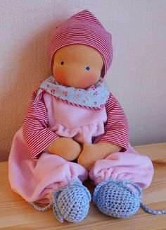 Mariengold Baby Doll with two Outfits - reserved for Tonya