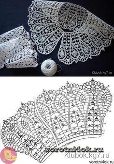 Captivating All About Crochet Ideas. Awe Inspiring All About Crochet Ideas. Crochet Collar Pattern, Col Crochet, Poncho Au Crochet, Crochet Lace Collar, Crochet Borders, Crochet Diagram, Crochet Chart, Crochet Motif, Irish Crochet