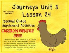 Half-Chicken Journeys Unit 5 Lesson 24 Supplement Activities Second Grade Common Core aligned