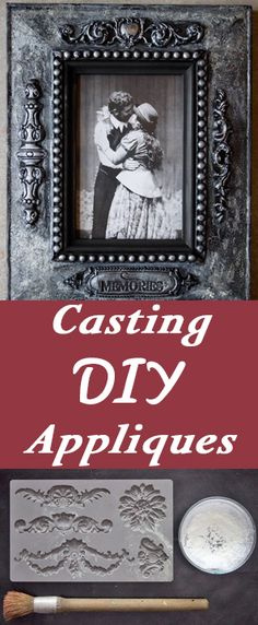 Casting DIY Appliques - A fantastic way to add originality and charm to lack-luster home decor items!