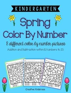 Color by Number Spring by Creative Kinderoos | Teachers Pay Teachers