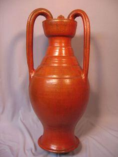 "A. R. Cole North Carolina Chrome Red Vase 21"" 1312.89"