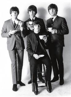 The Beatles (maybe they are drinking coffee vs tea...)
