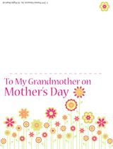 Free Printable Mothers Day Card For Grandmother