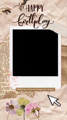Happy Birthday Template, Happy Birthday Frame, Happy Birthday Posters, Happy Birthday Wallpaper, Happy Birthday Wishes Cards, Birthday Frames, Birthday Captions Instagram, Birthday Post Instagram, Instagram Frame Template
