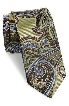 J.Z. Richards Paisley Silk Tie | Nordstrom Old Ties, Designer Ties, Paisley Tie, Casual Wear For Men, Tied Shirt, Tie Accessories, Handkerchiefs, Bowties, Dress Suits