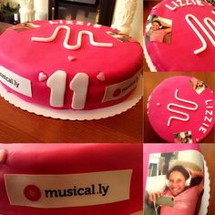 Musical.ly birthday cake Lizzy