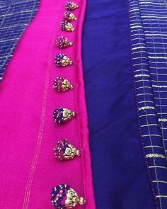 Latest Saree Kuchu/Tassel Designs to Beautify Your Saree Saree Kuchu New Designs, Saree Jacket Designs, Saree Tassels Designs, Wedding Saree Blouse Designs, Silk Saree Blouse Designs, Hand Work Blouse Design, Simple Blouse Designs, Latest Saree Blouse, Latest Sarees